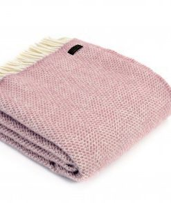 tweedmill beehive throw dusky pink