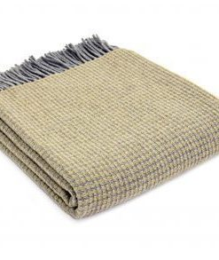 tweedmill merino reversible lattice throw