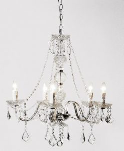 Ornate Crystal Chandelier coach house