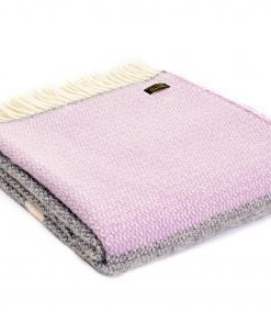 Tweedmill Lifestyle Illusion Panel Throw Grey/Lilac
